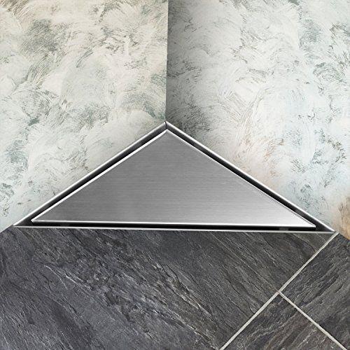 Homfa Siphon De Sol Triangulaire Drain De Plancher Triangulaire Caniveau De Douche Triangulaire Anti Odeur En Acier Inoxydab Tile Floor Flooring Bathroom Scale
