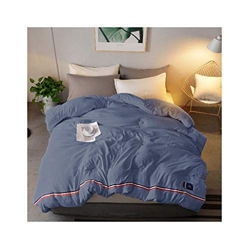 Quilting Duvet Spring Autumn Winter Thickened Warm Single Double Bedding Dark Blue Comforter Family Student Dormitory Wash Blue Comforter Bed Quilted Duvet