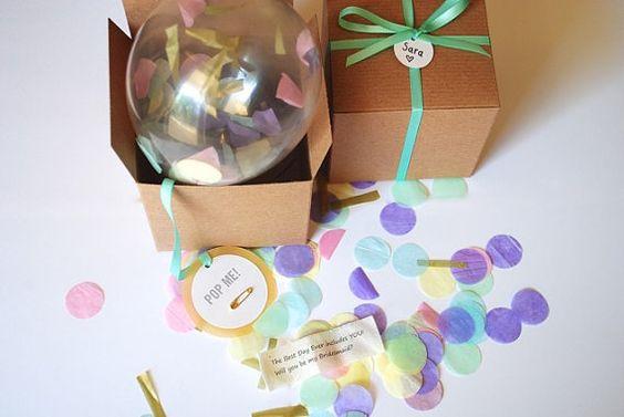 Will you be my bridesmaid? Bridesmaid Gift, Custom Pop The Balloon, Wedding Favor, Bridal Shower, Secret Message