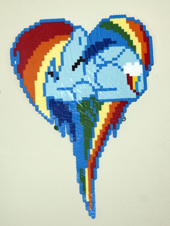 Perler Bead Patterns Rainbow Dash And Ponies On Pinterest