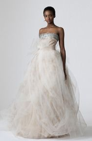 Vera Wang, painted tulle