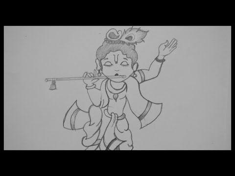 Krishna Janmashtami Drawing How To Make Lord Krishna Drawing Janmashtami Special Drawing Youtube Krishna Drawing Drawings Krishna Janmashtami