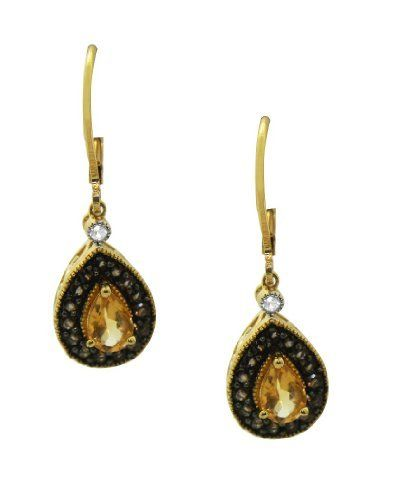 Gold Over Silver Citrine, Smokey Quartz, Simulated White Sapphire Earrings Jewelry Heaven. $35.99. All of our products are 100% satisfaction guaranteed!