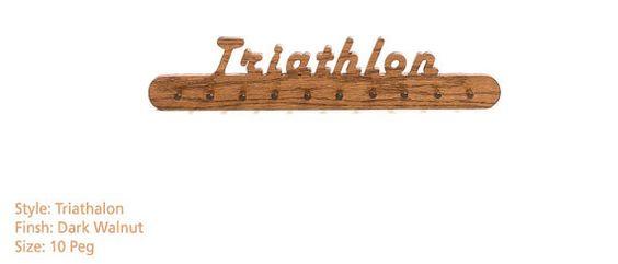 Traithlon Medal Hanger by MarathonMemories on Etsy, $34.95