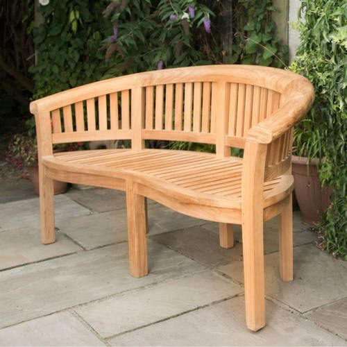 Curved Grade A Teak Garden Bench 3 Seater 165m In 2020 Teak Garden Bench Garden Bench Garden Seating