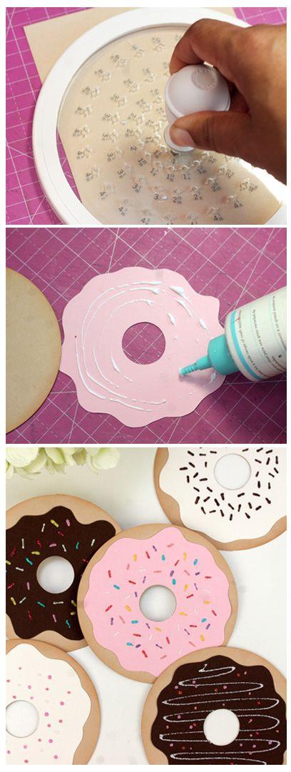 DIY Paper Donut Valentines | Damask Love Blog