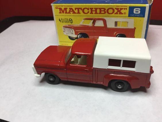 VINTAGE 1968 LESNEY MATCHBOX #6 D FORD PICKUP TRUCK ORIGINAL