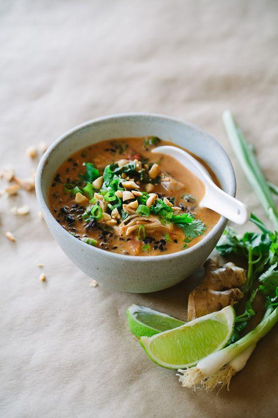 Thai Chicken Forbidden Rice Soup