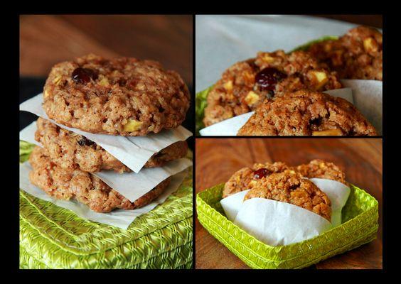 Cranberry-Oatmeal-Cookies / Haferflocken Kekse mit Cranberries und Walnüssen - super lecker mit Vollkornmehl und Öl anstatt Butter...