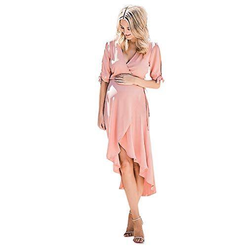 Schwangerschaftskleid Sommer Stillkleid Damen Kurzarm Mutterschaft Umstandskleid