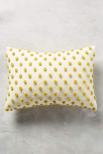 Woolen Pom Pillow - anthropologie.com