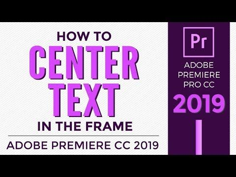Center text in photoshop