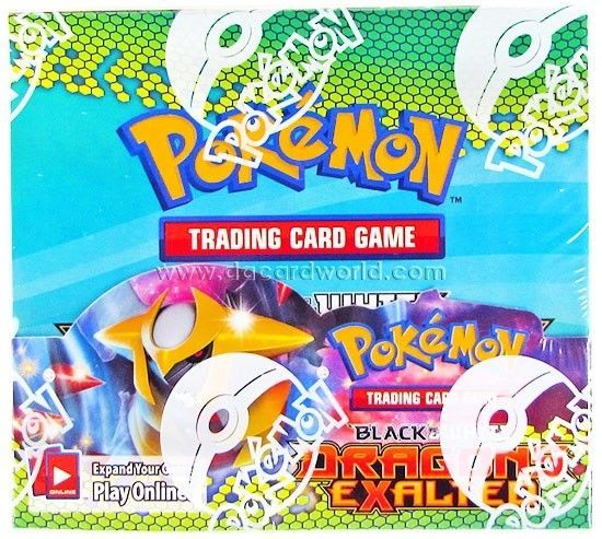 Pokemon Black White 6 Dragons Exalted Booster Box Black Pokemon Pokemon Card Games