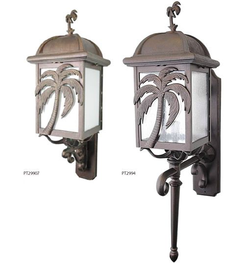 Melissa Lighting British Colonial Tropical Palm Tree Outdoor Series Deep Discount Lighting Palm Trees British