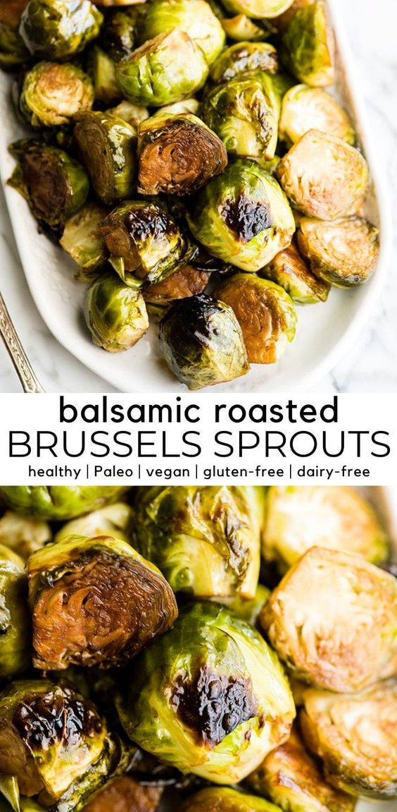 This healthy balsamic roasted Brussel sprouts recipe is an easy vegetable side dish! These Brussels