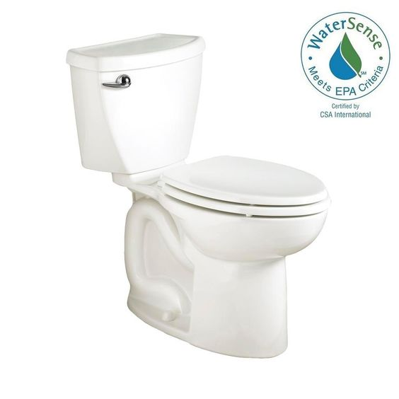 $205 Home Depot  American Standard Cadet 3 PowerWash High-Efficiency 2-piece 1.28 GPF Elongated Toilet in White-270CA101.020 - The Home Depot