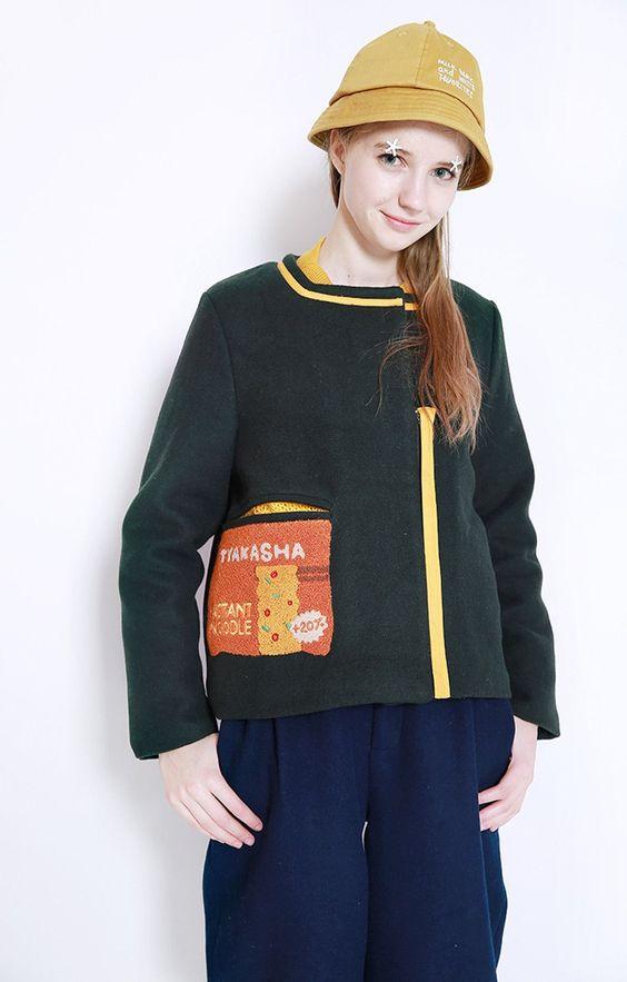 Instant Noodle Woolen Jacket by TYAKASHA