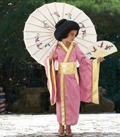 pink kimono princess child costume - Chasing Fireflies:
