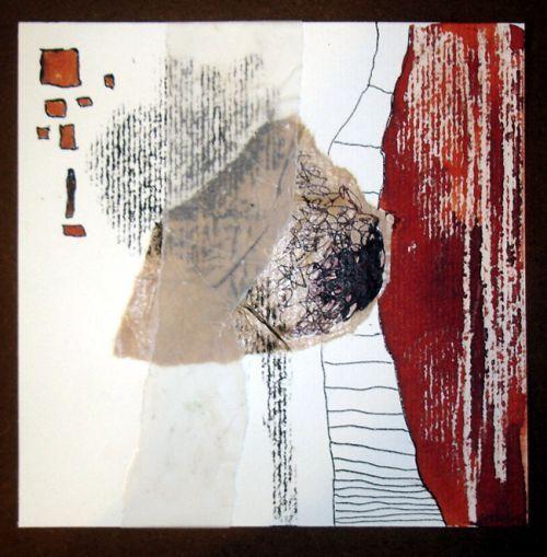 Florence Lefevre - Art abstarit - Papiers divers, encres, pastels 15 x 15
