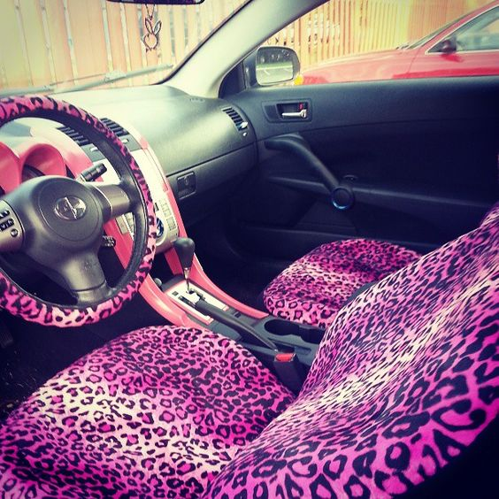 Pinkish Purple Leopard Print Car Seat Girly Car Interior Accessories Tips Pinterest Car