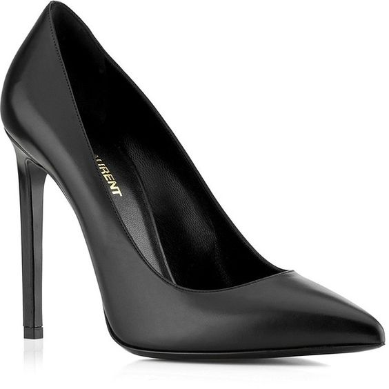 Saint Laurent Paris Plain Pump found on Polyvore