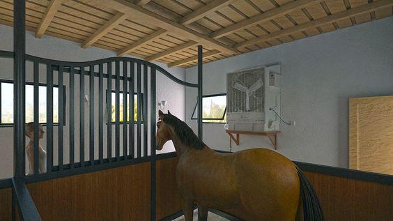 horse stable 3d model design horse stable model design