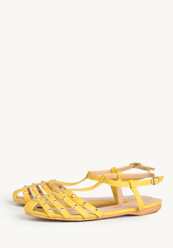 Bunny Studded T-strap Flat at #Ruche @Ruche