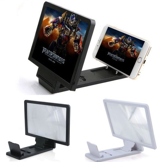 Universal Foldable Screen 3D Magnifier HD Enlarge Holder Stand for Cell Phone #UnbrandedGeneric