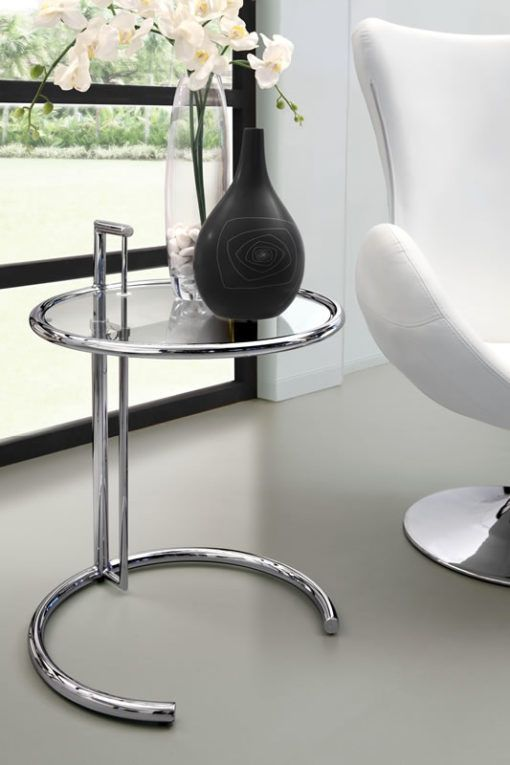 Eileen Adjustable Side Table Grey Side Table Adjustable Side Table Glass Table