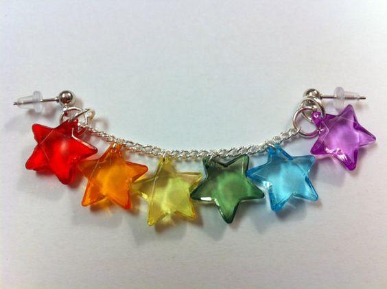 Rainbow Lite Brite Rave Wear LobetoCartilage by VioletSugarr, $11.90