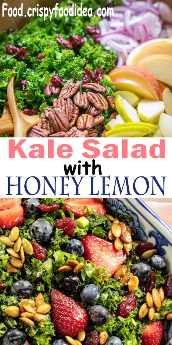 Kale Salad with Honey Lemon Dressing