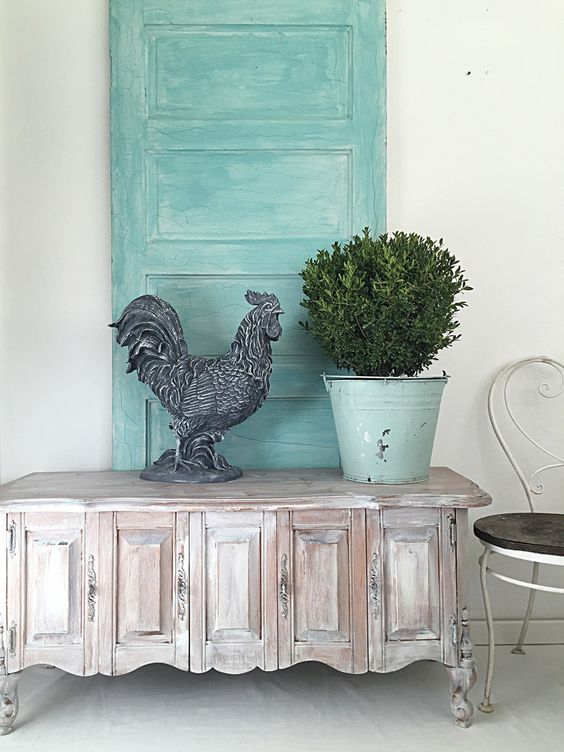 Tall french rooster kitchen table centerpiece chicken