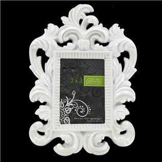 green tree gallery 2 x 3 bright white glossy baroque resin frame shop