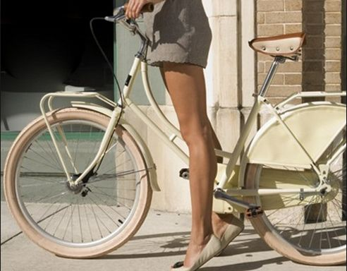 Nude flats paired with our weekend ride.