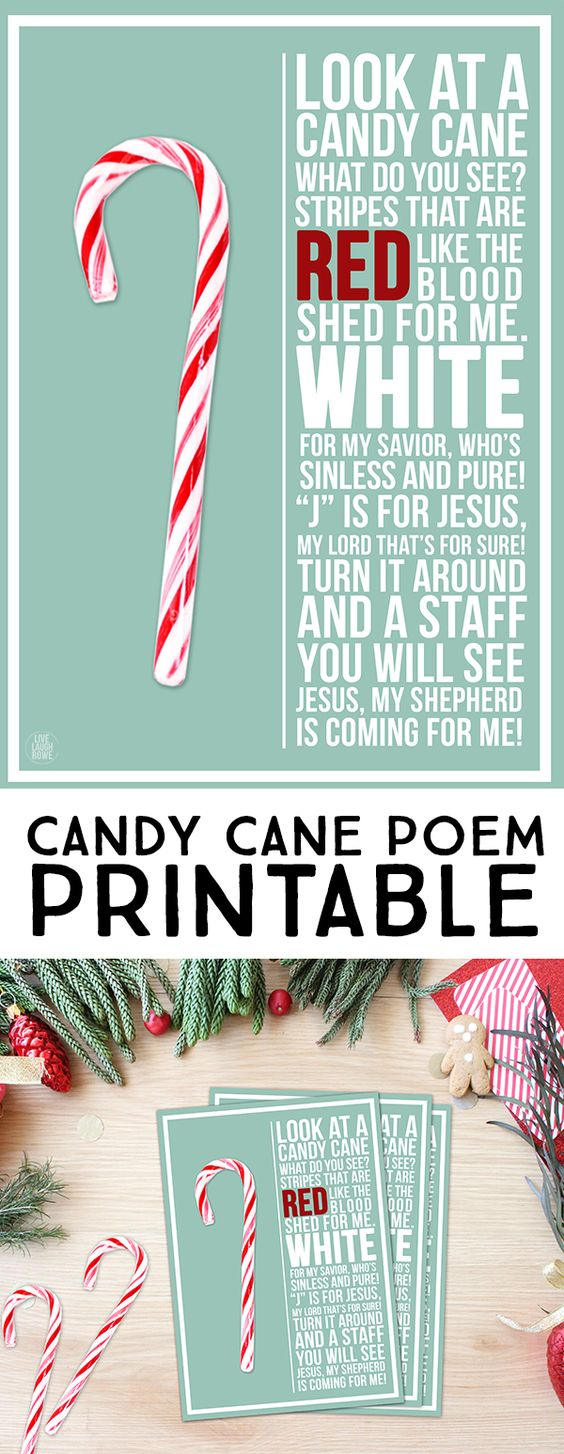 This is an image of Challenger Candy Cane Poem Printable
