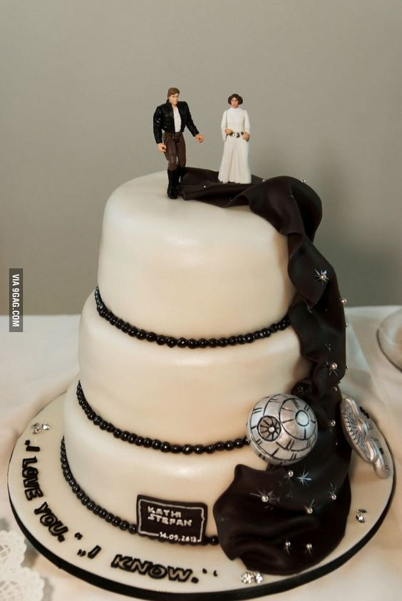 1000 Ideas About Star Wars Wedding Cake On Pinterest
