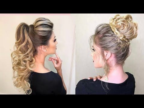 Glamorous Hairstyles For Medium Long Hair Glamorous Hairstyle Ideas For All Occasions Youtube Penteados Com Tranca Penteados Cabelo Penteado