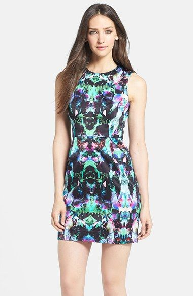 Milly Print Woven Sheath Dress available at #Nordstrom