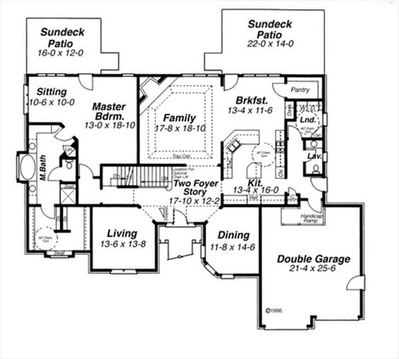 First Floor image of GREENSBOUROUGH House Plan