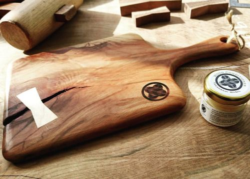 takahashi-mcgil:  Beech trivet / Serving board with small jar of home made free bee wood conditioner comes with.