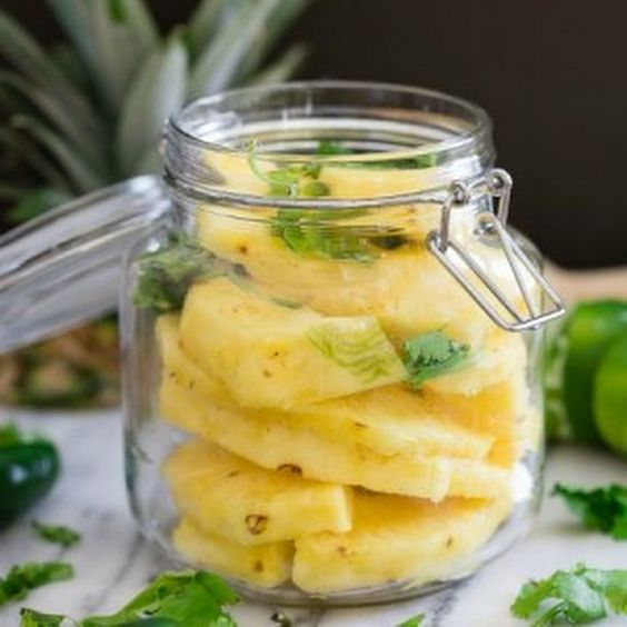 Spicy Pickled Pineapple Recipe Appetizers with pineapple, seasoned rice wine…