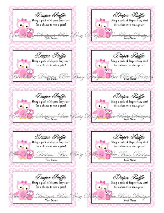 diaper raffle tickets bee free printables pinterest free diapers