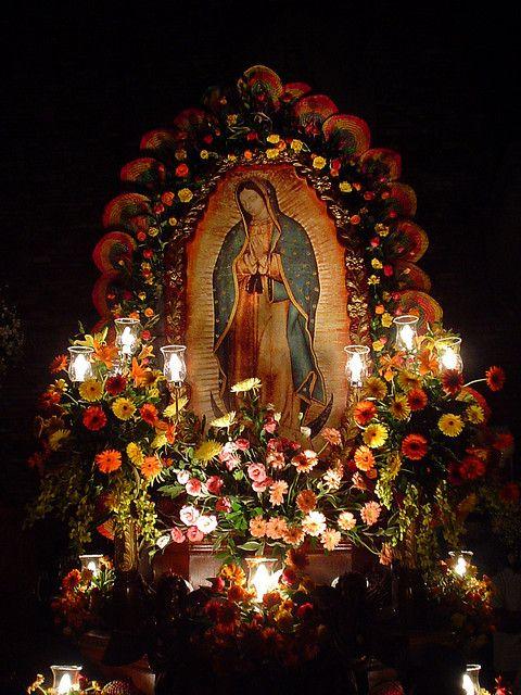 Decoracion Altar Virgen De Guadalupe ~   de Guadalupe (by robbyandharry)  virgenes  Pinterest  Virgen de