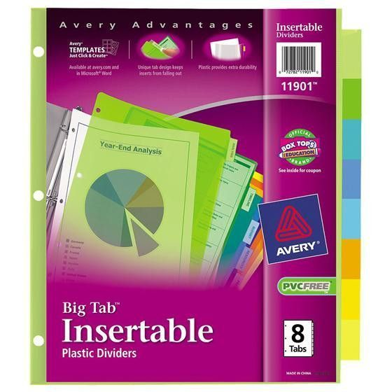 Avery Big Tab Plastic Insertable Divider 8 Tab Set Modern Avery 8 Tabs Template Avery Template Free Download Elsevier S Templates Free Design Divider Templates
