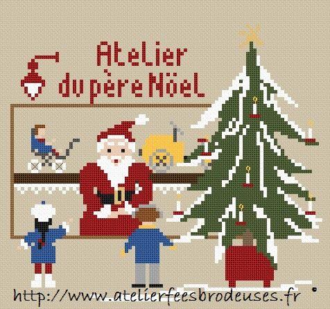 Les fées brodeuses: La grille cadeau de Noël 2012