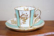 Hammersley Pires & Xícara De Chá, Porcelana fina de osso, Inglaterra-guarnição de ouro
