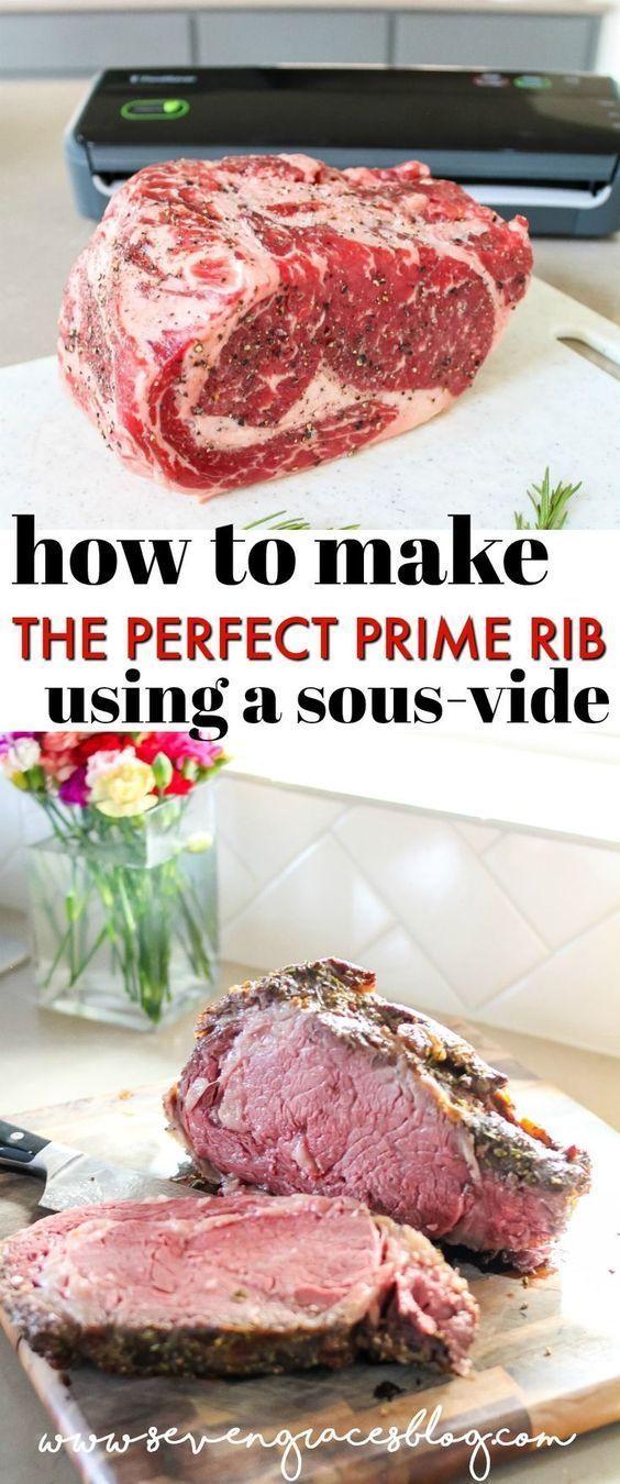 Wie Man Die Perfekte Prime Rib Mit Einem Sous Vide Macht In 2020 Gezonde Quiche Recepten Vleesrecepten Gezonde Quiche