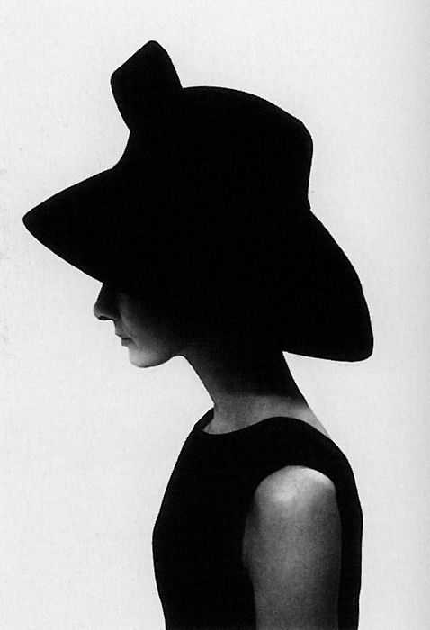 Audrey Hepburn's hat and side profile makes a beautiful ...
