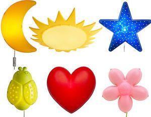 IKEA Smila Childrenu0027s Bedroom Wall Lamp / Baby Night Light Flower, Moon,  Heart in Home, Furniture u0026 DIY, Childrenu0027s