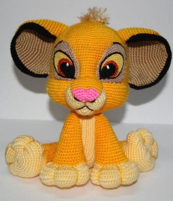 Amigurumi Disney Livre : Lion Kion/Simba Hakelanleitung PDF, Englisch USA, Rey Leon ...